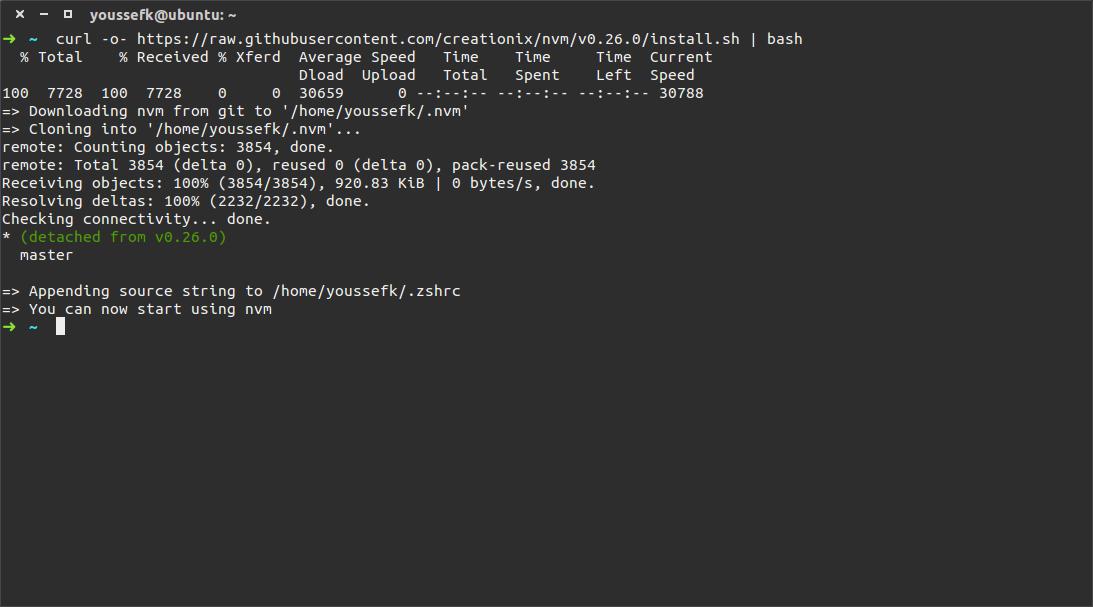 install nvm ubuntu